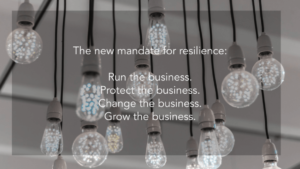 The mandate for resilience
