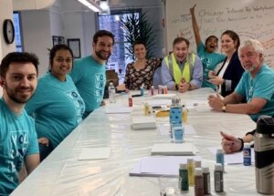 Fusion cares photo from painting day