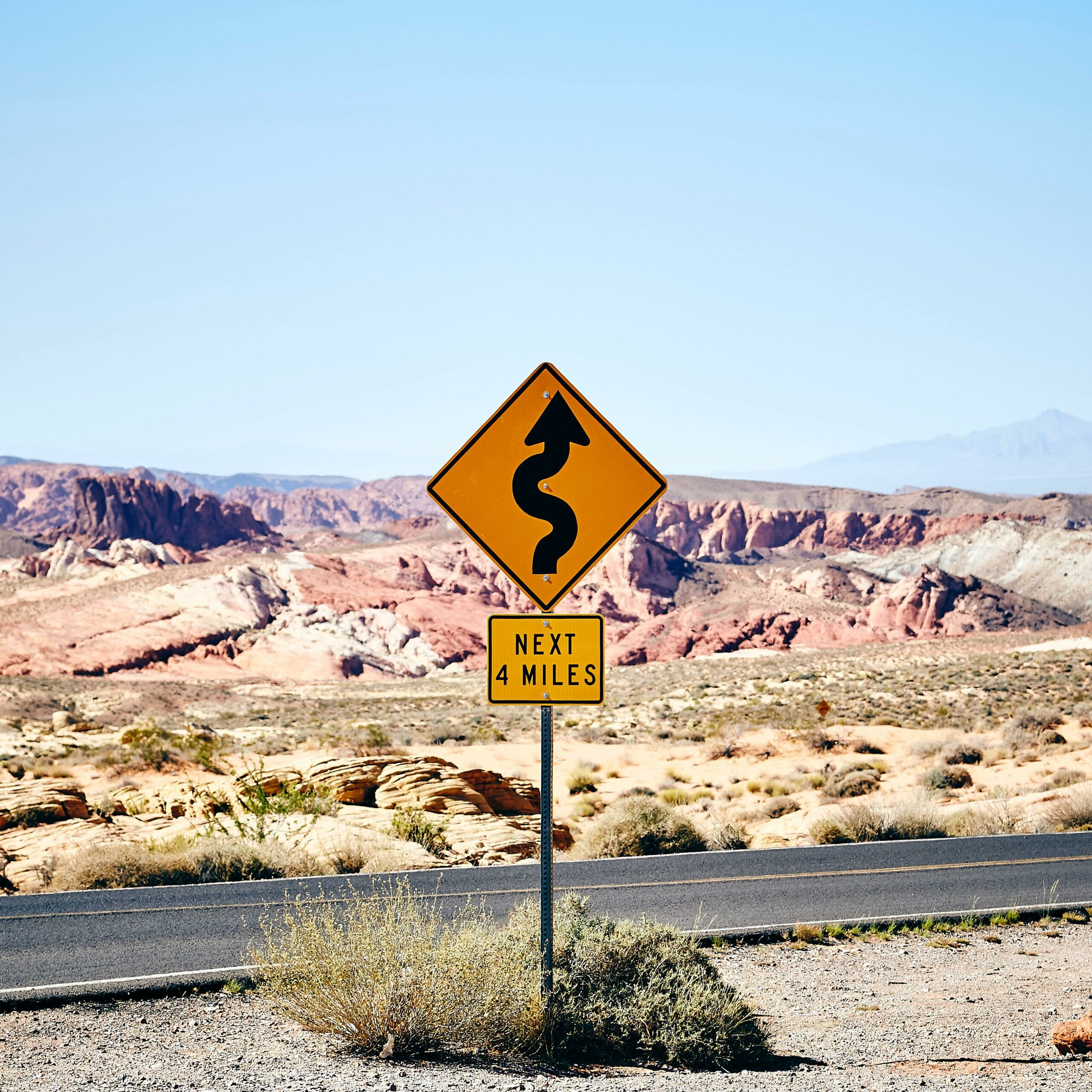 Sign indicated rough road ahead, concept for a view of resilience