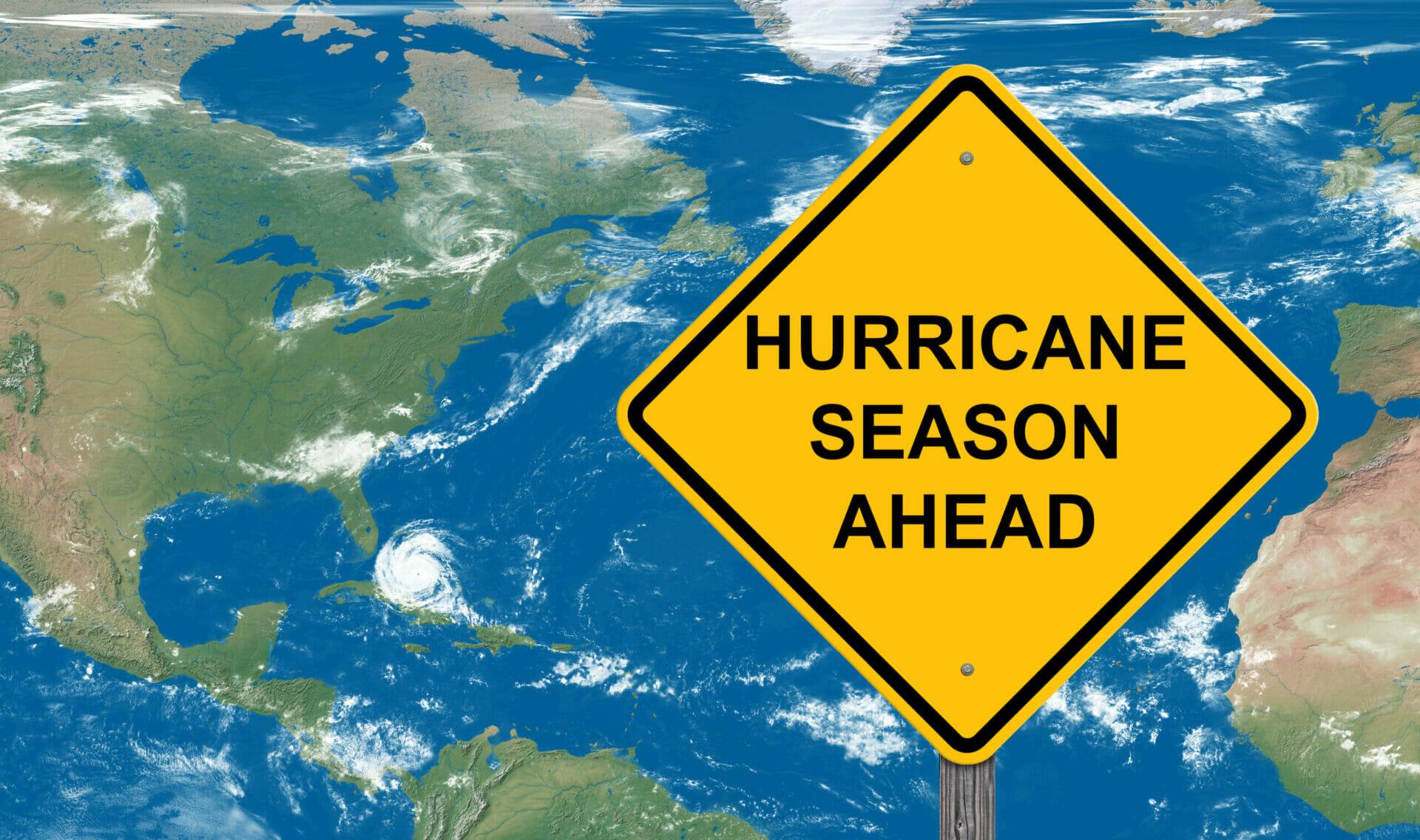 Hurricane Season Warning Sign