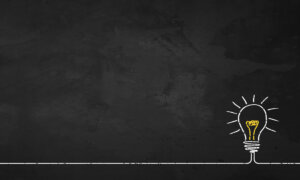 Resilience insights concept: Chalkboard Light Bulb