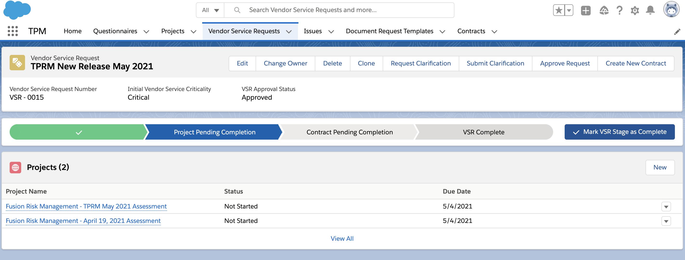 Screenshot of VSR_Project