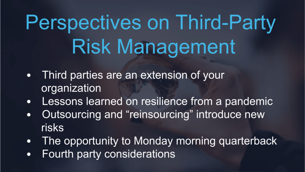 Perspectives on Third-Party Risk Management